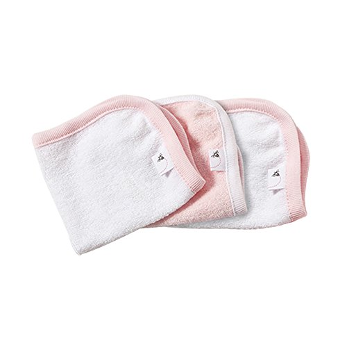 Burt's Bees Baby Bee Essentials 3 Pack Organic Washcloths, Blossom, 8.5