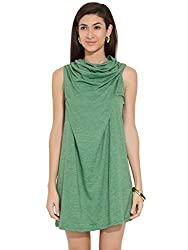 Remanika Women's A-Line Dress (PH-SHAKO8_Green_Small)