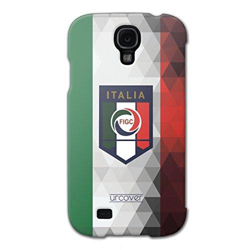 [EM SPEZIAL] Samsung Galaxy S4 Fussball Handyhülle mit Staubschutzkappen von original Urcover® in der UEFA EURO 2016 Edition Galaxy S4 Schutzhülle Case Cover Etui Europameisterschaft 2016 Fahne Fanartikel Team Italien