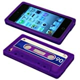 Cbus Wireless brand Purple/Blue Silicone Cassette Tape Case / Skin / Cover for Apple iPod Touch 4 / 4G / 4th Gen