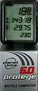 Planet Bike Protege 5.0 5-Function Bike Computer with 4-Line Display