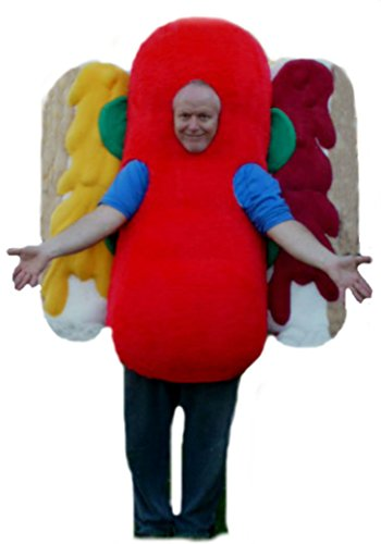 Mascots USA by CJs Huggables Custom Professional Hot Dog Mascot Costume