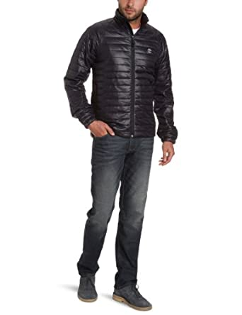 Timberland Clothing Men's Quilted Insulated Long Sleeve Jacket, Black, Small