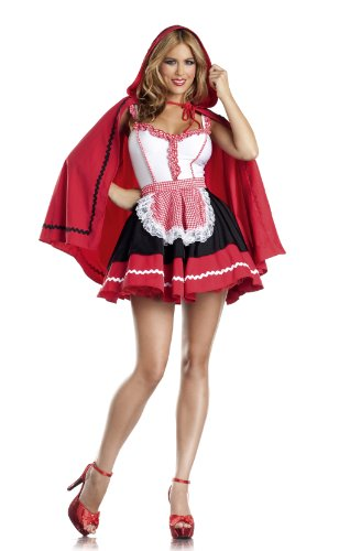 Be Wicked Costumes Women's Romantic Red Riding Hood Costume