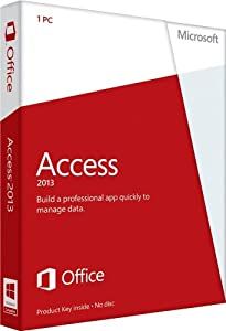 Microsoft Access 2013, Licence Card, 1 User (PC)