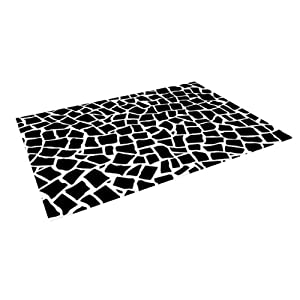 "... Mosaic Black"" Indoor/Outdoor Floor Mat, 8-Feet by 8-Feet: Patio, Lawn"