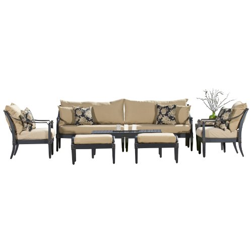 RST Brands Astoria 8-Piece Delano Sofa and Club Chair Deep Seating