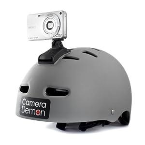 Camera Demon - Universal Helmet Camera Mount, Fits Any compact Digital Camera, 360 degree Rotation & Tilt function, 3D Camera Ready