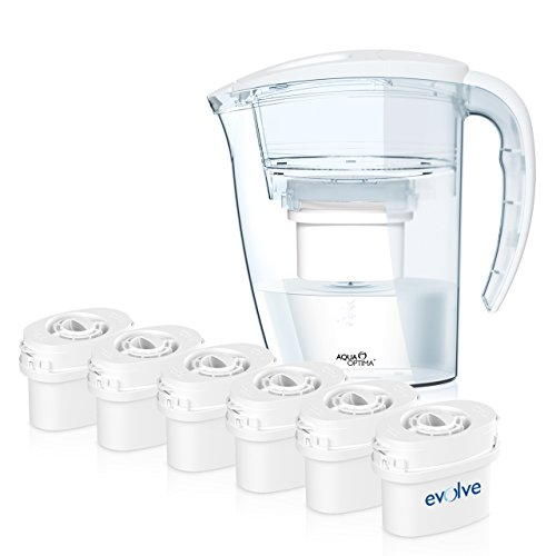 aqua-optima-white-filter-jug-one-year-bundle-offer-inc-6x60day-evolve-filters-ej0151-galia