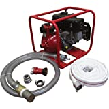 100PSI/60GPM PORTABLE FIRE FIGHTING SYSTEM – 6.5HP ENGINE; HIGH PRESSURE WATER PUMP; FIRE PUMP