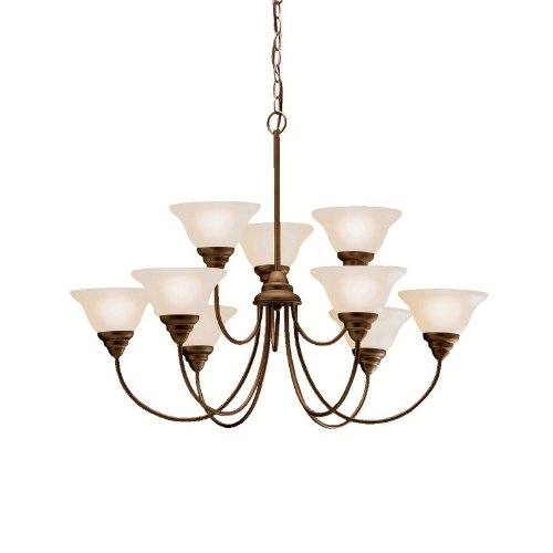 Kichler Lighting 2077OZ 9 Light Telford Chandelier, Olde Bronze