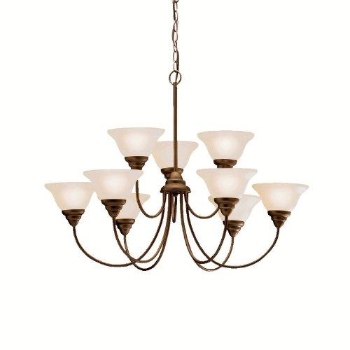 B0014HB0C0 Kichler Lighting 2077OZ 9 Light Telford Chandelier, Olde Bronze