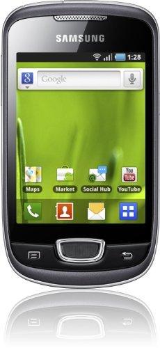 Samsung Galaxy Mini S5570i Smartphone (7,9 cm (3,2 Zoll) Touchscreen, 3,15 Megapixel Kamera, UMTS) steel-gray