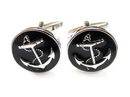 Black Anchor Cufflinks
