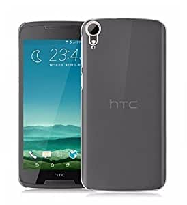Plus Crystal Clear Transparent Hard Back Case Cover For HTC Desire 828 dual sim