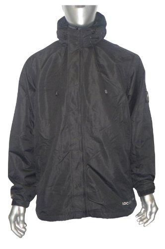 Mens Location Black Rock Waterproof Balaclava Rain Hooded Jacket Coat Size S