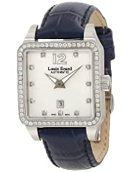 Louis Erard Women's 20700SE14.BDC65 Emotion Square Automatic Mother of Pearl Leather Diamond Watch