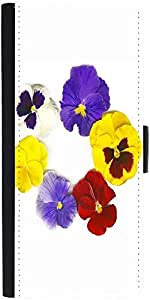 Snoogg a circle made of colorful viola tricolor Graphic Snap On Hard Back Leather + PC Flip Cover LG Nexus 5