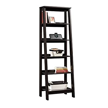 "SauderTrestle 5 Shelf Bookcase, W: 23.54"" x L: 16.61"" x H: 71.14"", Jamocha Wood Finish"