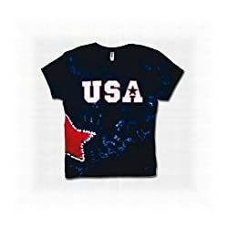Junior Women's USA Star Tie-Dye T-Shirt