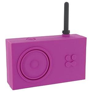 Lexon Tykho Rubber Radio Pink