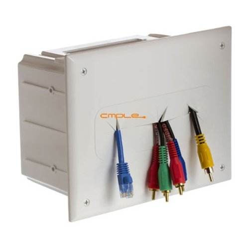 Cmple Wall Plate - Recessed Media Box White