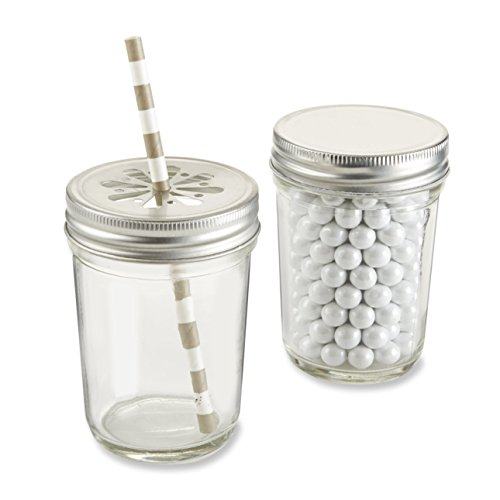 Kate Aspen Clear Mason Jar, set of 12