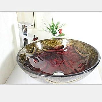jjg runde handgemalte bunte glas schiff sp lbecken mit. Black Bedroom Furniture Sets. Home Design Ideas
