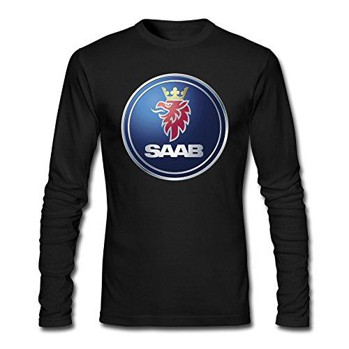 mens-custom-saab-logo-long-sleeve-round-neck-t-shirt