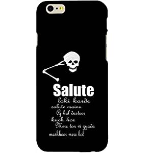 Casotec Salute Design Hard Back Case Cover for Apple iPhone 6 / 6S