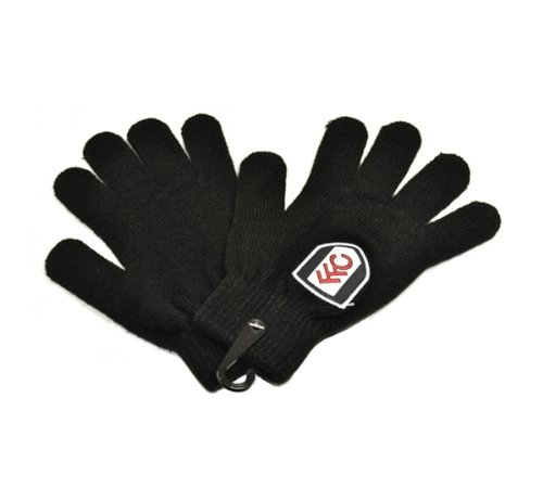 Official FULHAM FC black knitted gloves
