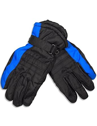 Winter Warm-Up - Mens Ski Gloves, Black, Royal Blue 28571