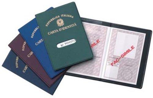 Porta carta d 39 identita custodia documenti in plastica con for Carta di soggiorno documenti