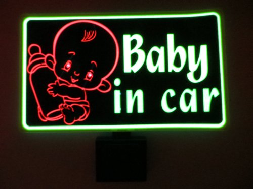 Baby In Car Flashing Sound Activated Dj Light Up Led Decal Sticker Patch Panel