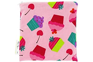 Itzy Ritzy Snack Happens Reusable Snack Bag, Cupcake Couture
