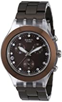Swatch Irony Diaphane Chrono Full Blooded Earth Watch SVCK4042AG