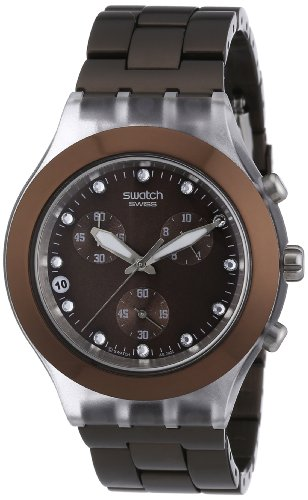 Swatch Full Blooded Earth Mens Chronograph Watch