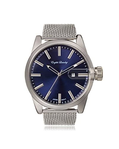 English Laundry Men's EL7596S236-082 Sliver/Blue Alloy/Stainless Steel Watch