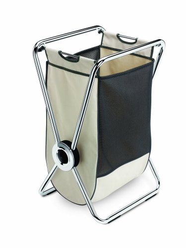 simplehuman X-Frame Laundry Hamper, Chromed Steel with Removable Canvas and Mesh Bag