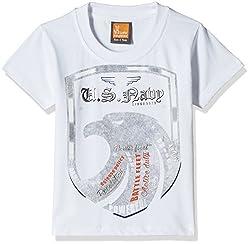 Little Kangaroos Baby Boys' T-Shirt (11055_White_1 year)