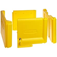 "Rubbermaid Commercial Locking Cabinet Door for Cleaning Service Cart Yellow, 11.25"" Height, 20"" Length x 16"" Width"