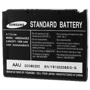 OEM Samsung Glyde Standard Li-Ion Battery, AB603443EZ