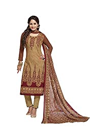 RK Fashion Beige Color Karachi Cotton Unstitched Dress Material (BALARKARACHI2010-Beige-Free Size)