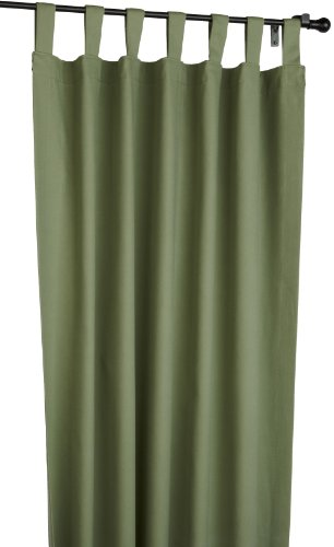 Fireside Tab Top 160-Inch-by-84-Inch Patio Door Thermal Insulated Drapes, Sage