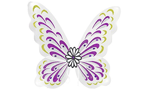 White Sparkling Fairy Costume Wings - 1