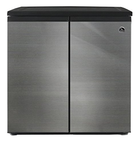 IGLOO FR551 5.5 Cubic Feet Side by Side 2 Door Refrigerator Freezer, Stainless Steel (Fridge Without Freezer compare prices)