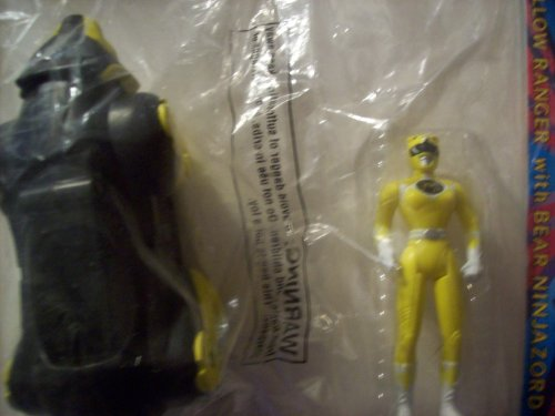 Mighty Morphin Power Rangers the Movie Yellow Ranger with Bear Ninja Zord(mcdonalds Happy Meal Toy) (Power Rangers Mighty Morphin Zords)