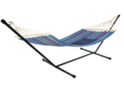 Hd Steel Hammock Stand Travel Camping Rv Outdoor Swing Yard Deck Patio Carry Bag