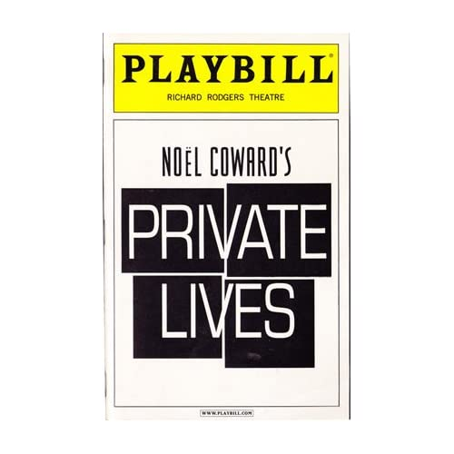 Private Lives -- Playbill 2002 Richard Rodgers Theatre, Coward, Noel