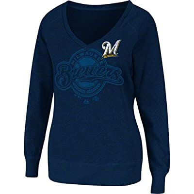 Milwaukee Brewers Women's Take Control Fleece Pullover by Majestic Athletic